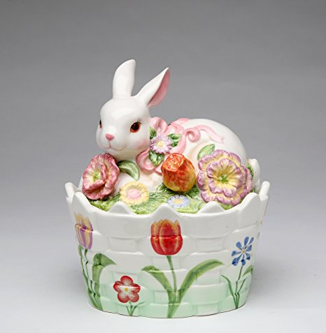 Cosmos Gifts 10444 Ceramic Bunny Candy Box