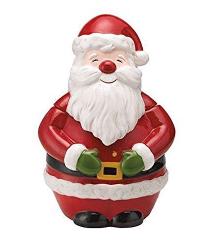 Martha Stewart Collection Holiday Vintage Paper Figural Santa Cookie Jar