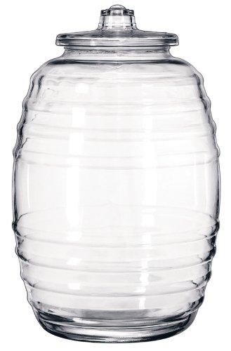 LIB9520004 - Glass Barrel With Lid, 20 Liters, Clear