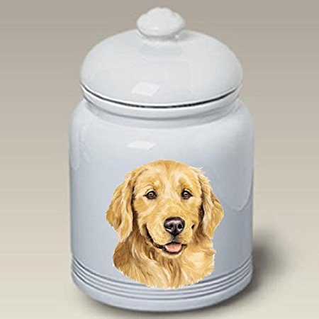 Golden Retriever: Ceramic Treat Jar 10