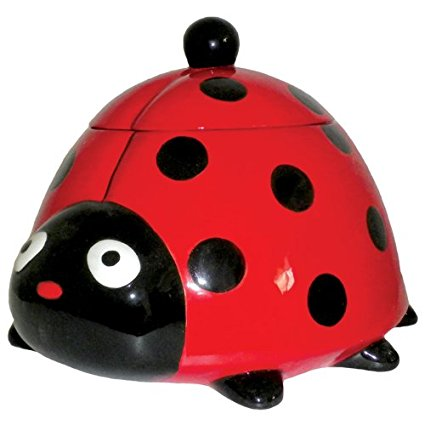 Westland Giftware Ceramic Cookie Jar, 8-Inch, Kookie Ladybug