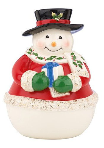 Lenox Snowman Holiday Cookie Snack Jar