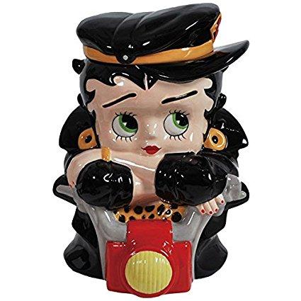Westland Giftware Ceramic Cookie Jar, Biker Betty, Multicolor