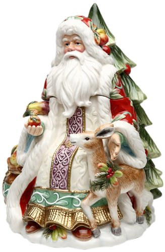 Cosmos Victorian Harvest Santa Cookie Jar, 11-1/4-Inch Tall
