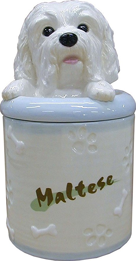 StealStreet SS-D-CJ023, Maltese Collectible Dog Puppy Cookie Jar Container Statue Figurine Art