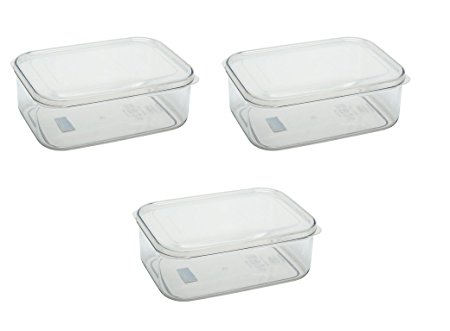 LSX 255 Micro Clear 2.3 qt Food Storage Container Set of 3 (Clear)