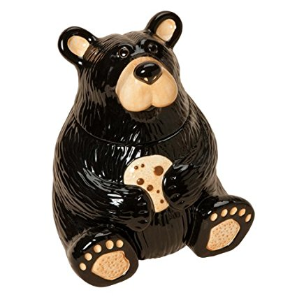Black Bear Cookie Jar - Cabin Dining Decor