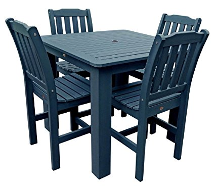 Phat Tommy Outdoor Recycled Poly Highwood Lehigh Tall Square Dining Set