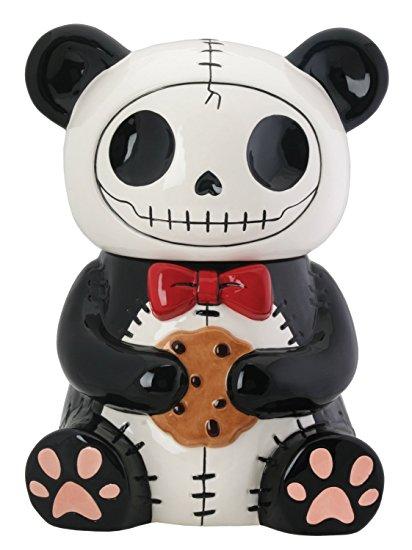 Pandie Panda Bear Furry Bones Cookie Treat Jar