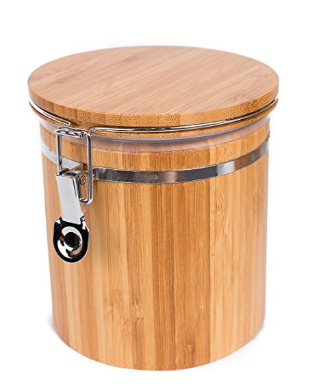 BirdRock Home Bamboo Food Storage Canister with Lid | Medium