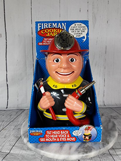 Fireman Talking Cookie Jar -2002 11.5