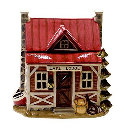 Certified International Cabin Lake Life 3-D Cookie Jar, Multicolor